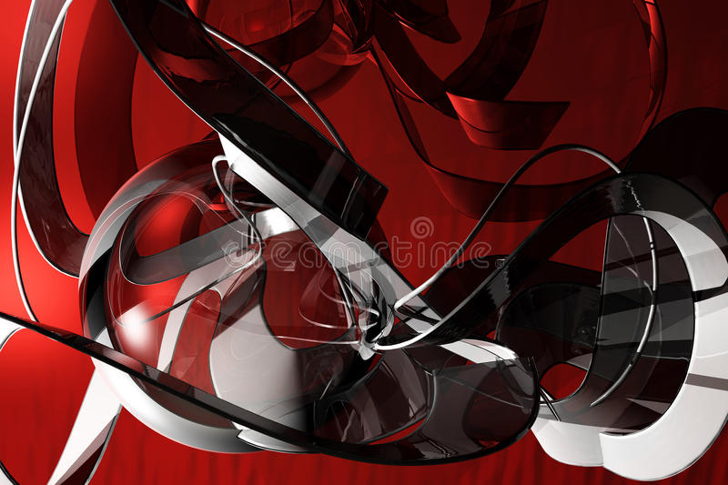 Download Red Techno Abstract Stock Photography - Image: 24029952