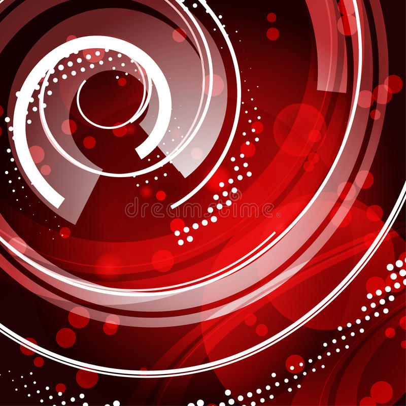 Red techno background royalty free illustration