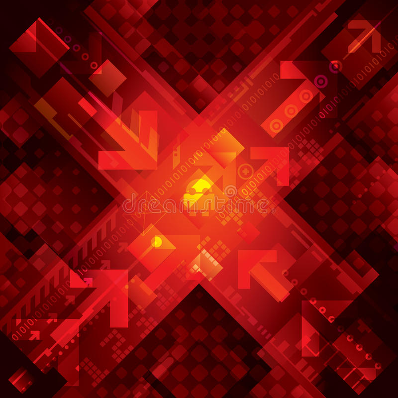 Red Technology Background stock photo