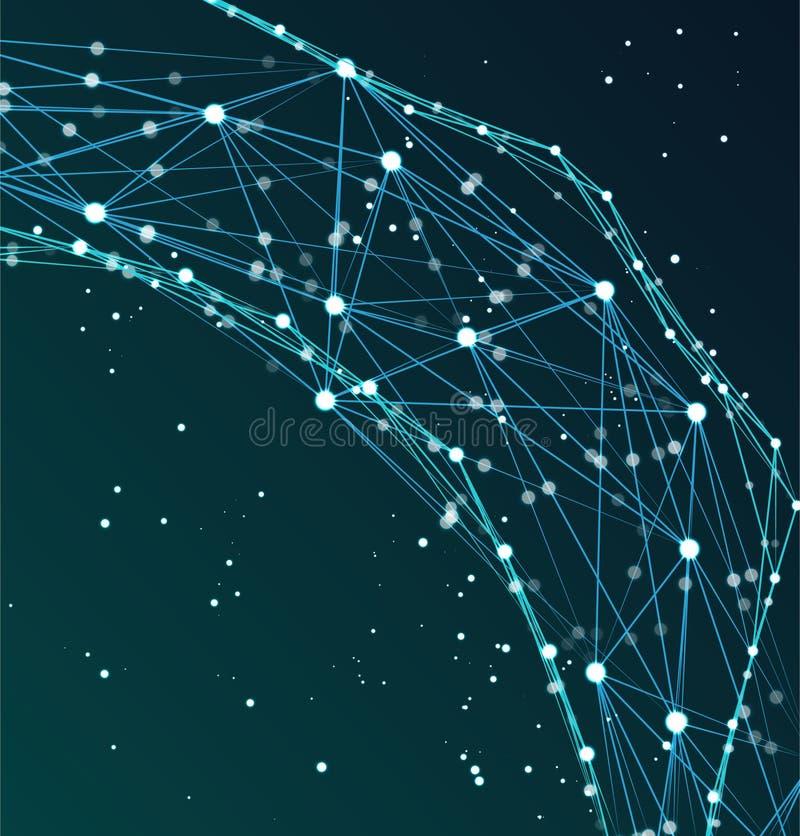 Red tecnológica del cartel abstracto libre illustration