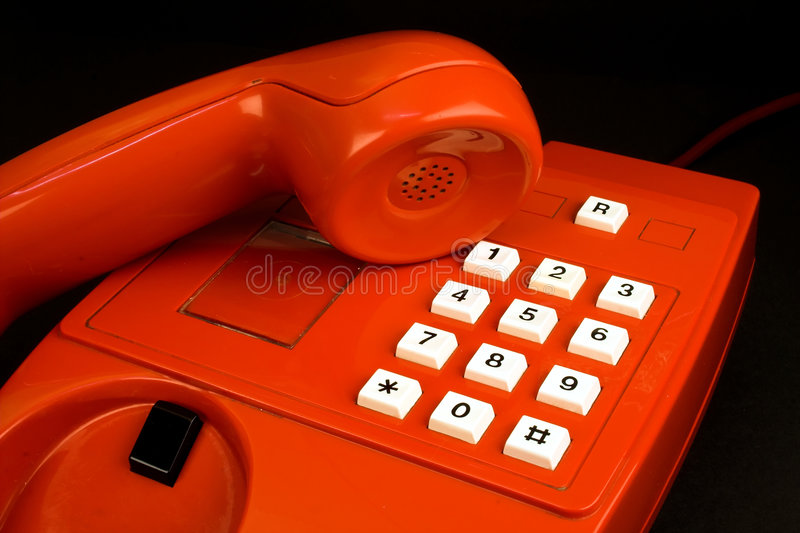 Red telephone royalty free stock photos