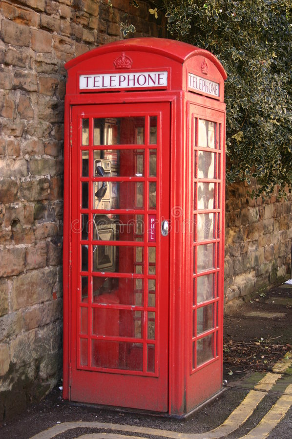 Download Red Telephone Box stock image. Image of call, number, english - 114059