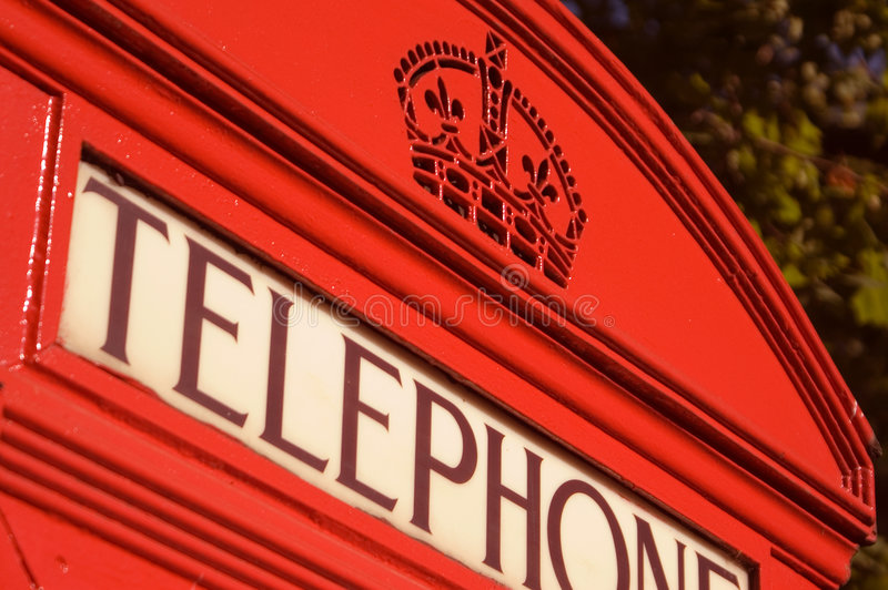 Red telephone box stock photos