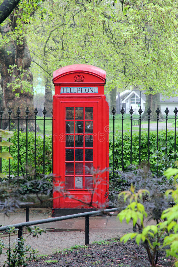 Download Red telephone box stock photo. Image of park, kingdom - 27010348