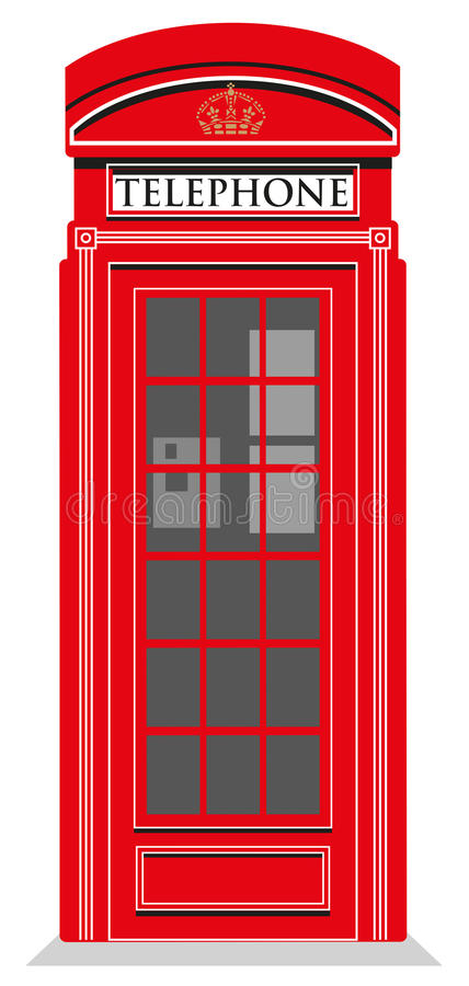 Red Telephone Box stock illustration