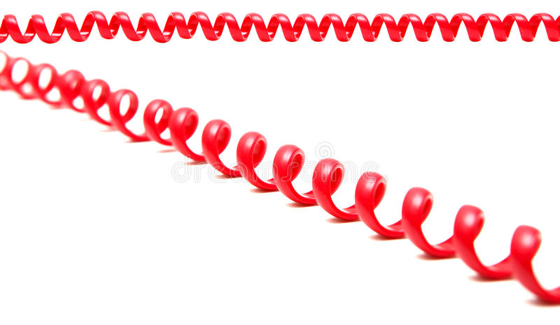 Red telephone cord stock photos
