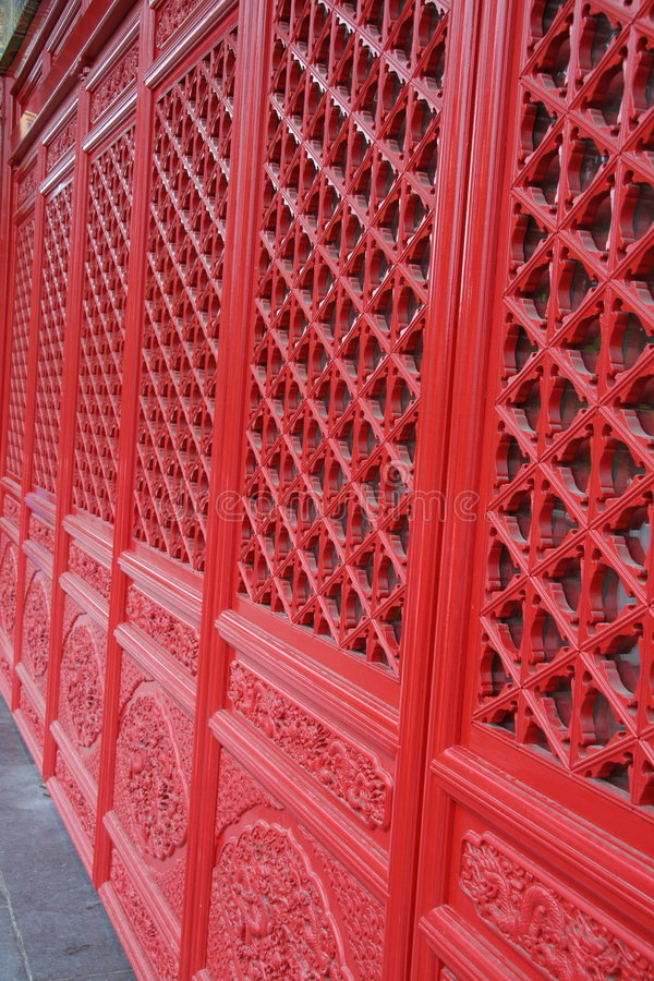 Free Red Temple Doors Royalty Free Stock Image - 338126