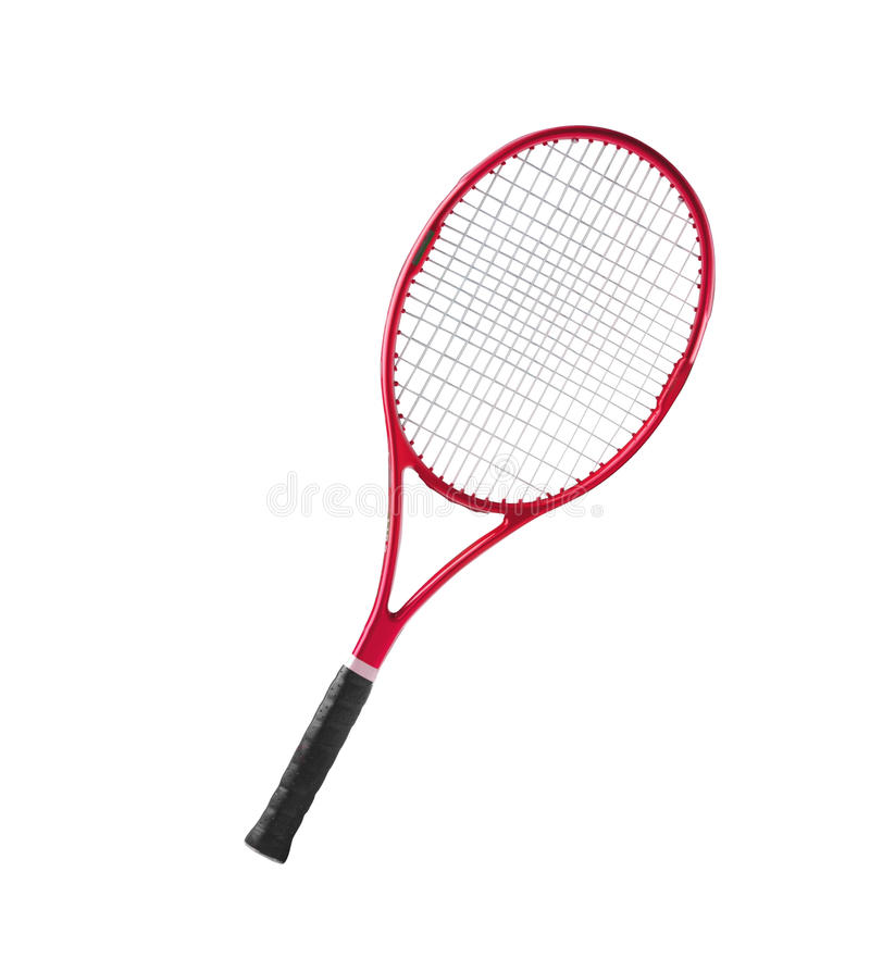 red tennis racket isolated white stock image image of objects rh dreamstime com Tennis Silhouette Clip Art Female Tennis Clip Art