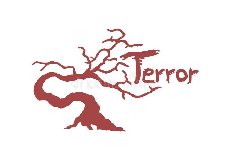 Red terror tree symbol design. Creative design of red terror tree symbol stock illustration