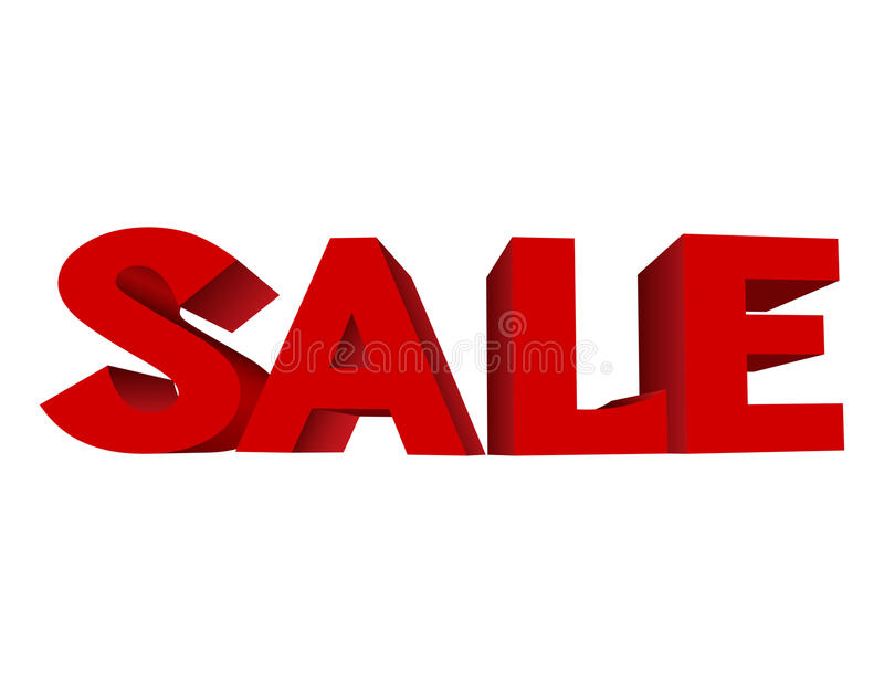 Download Red text SALE stock vector. Illustration of nobody, banner - 27765004