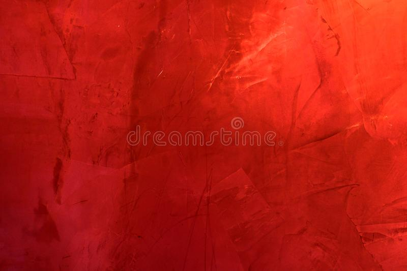 Red cement wall texture , red abstract background. royalty free stock photos