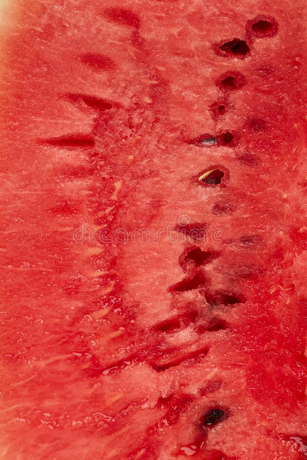 Red texture of sweet watermelon texture background stock photo
