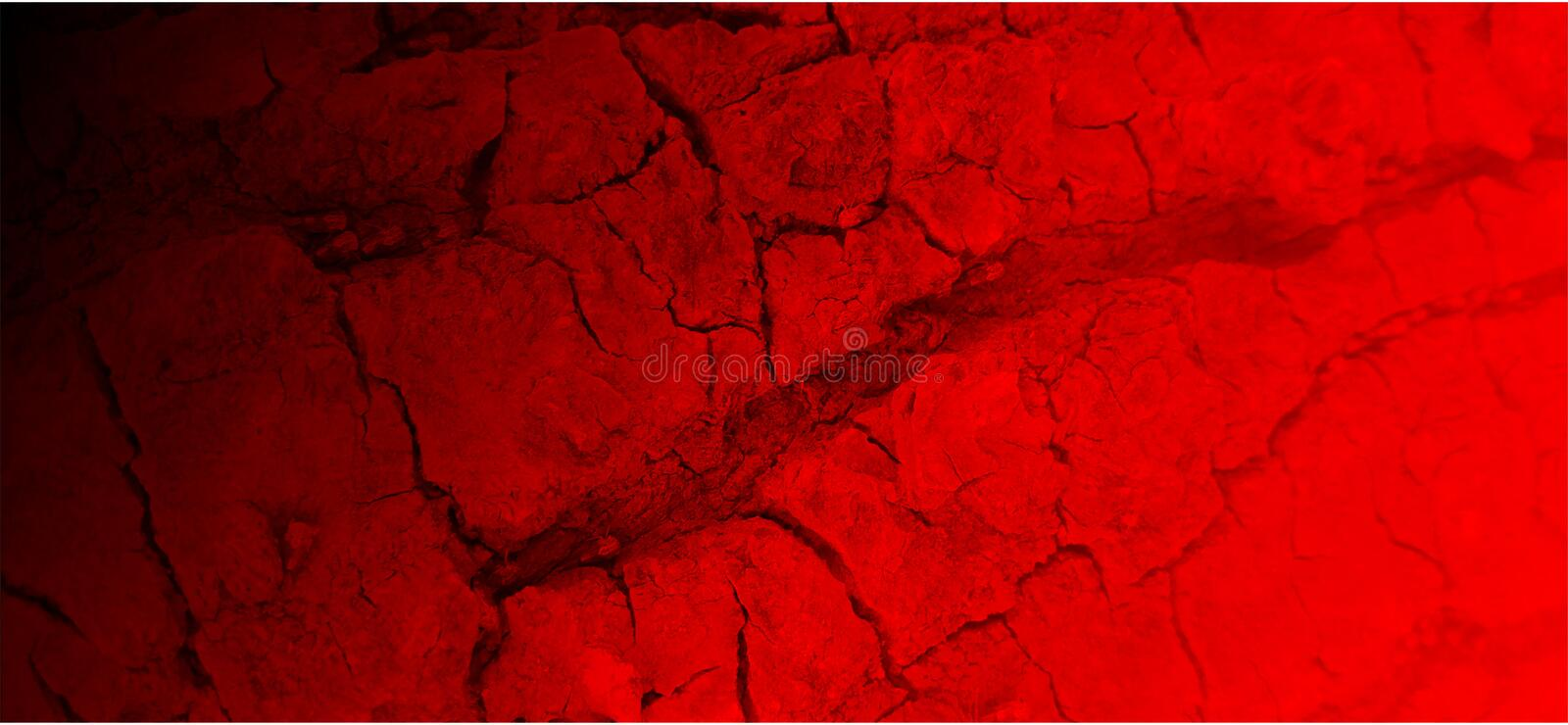 Red textured background with black gradient. stock illustration