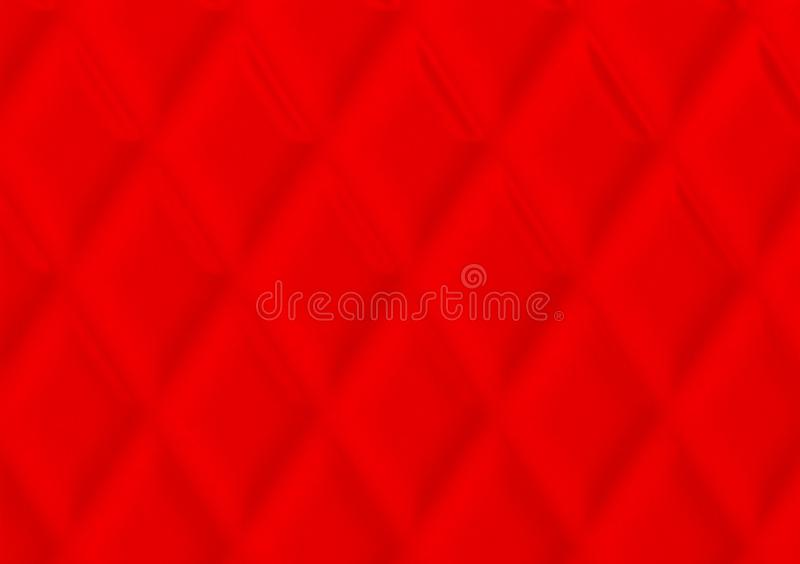 Red textured cushion background design for wallpaper. Use with text or image royalty free stock photography