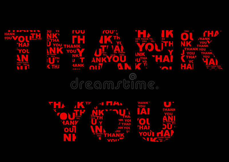 red thank you stock illustration  illustration of