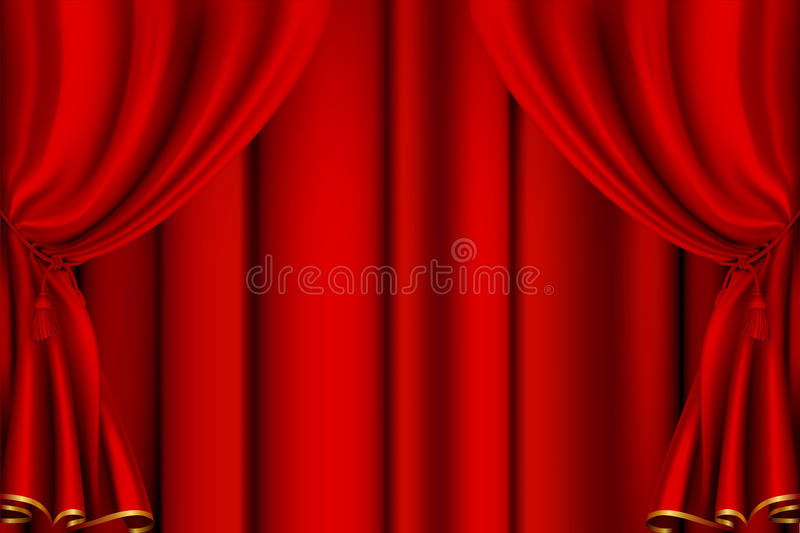 Download Red theater curtain stock vector. Illustration of drop - 20114984