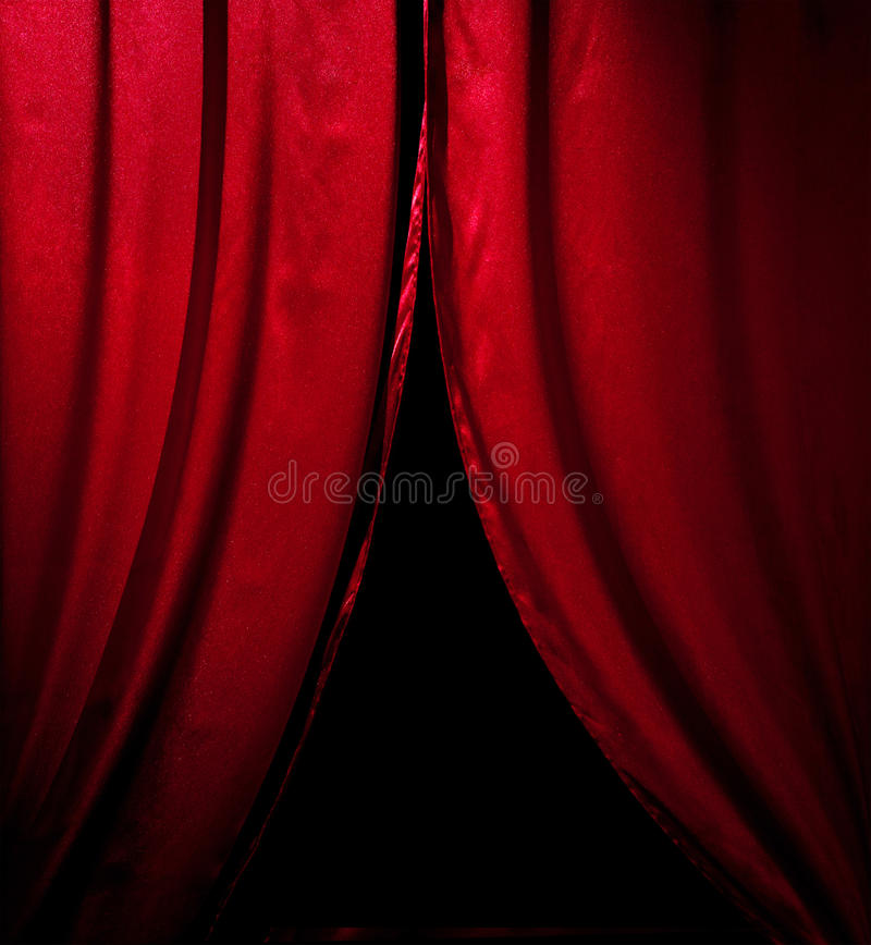 Download Red theater curtain stock image. Image of auditorium - 22055999