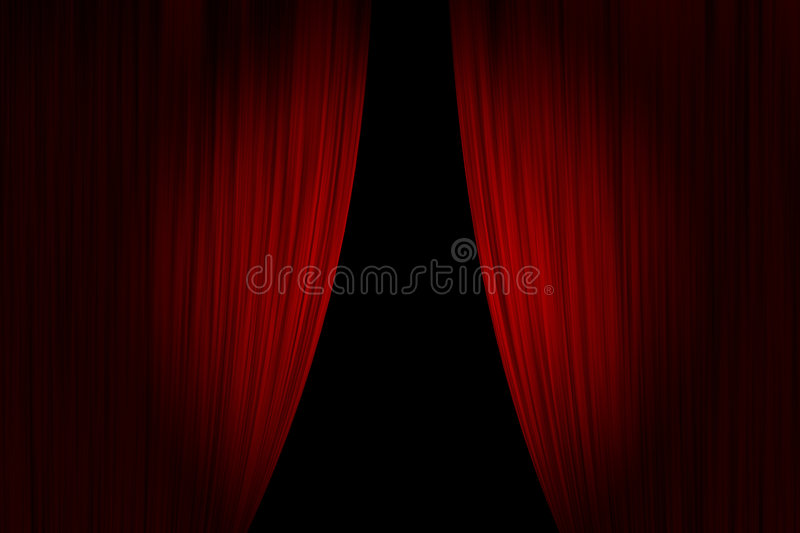 Download Red theater curtains stock illustration. Illustration of curtains - 8632616