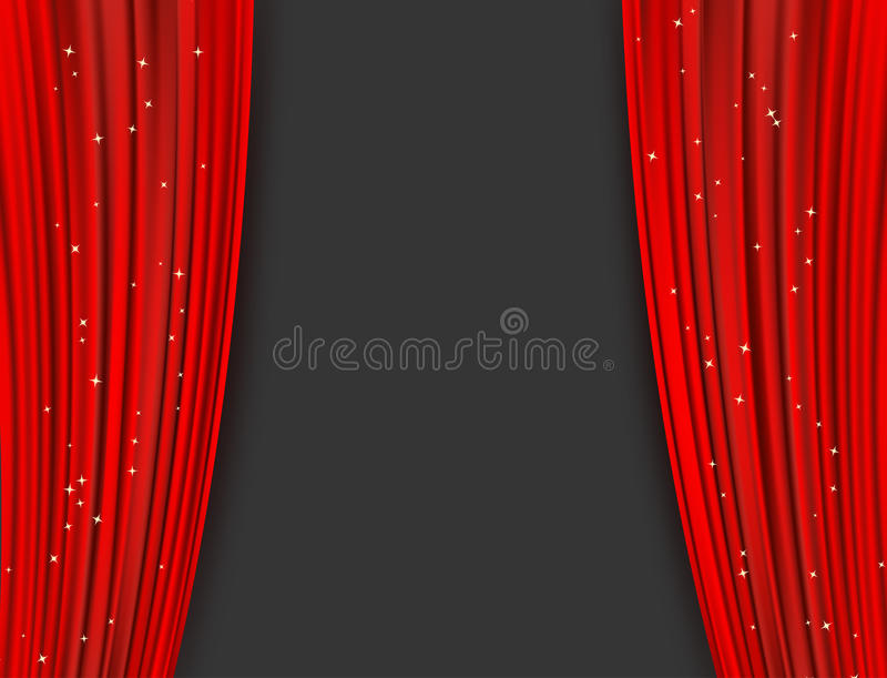 Download Red Theater Curtains With Glitter Abstract Background Stock Vector