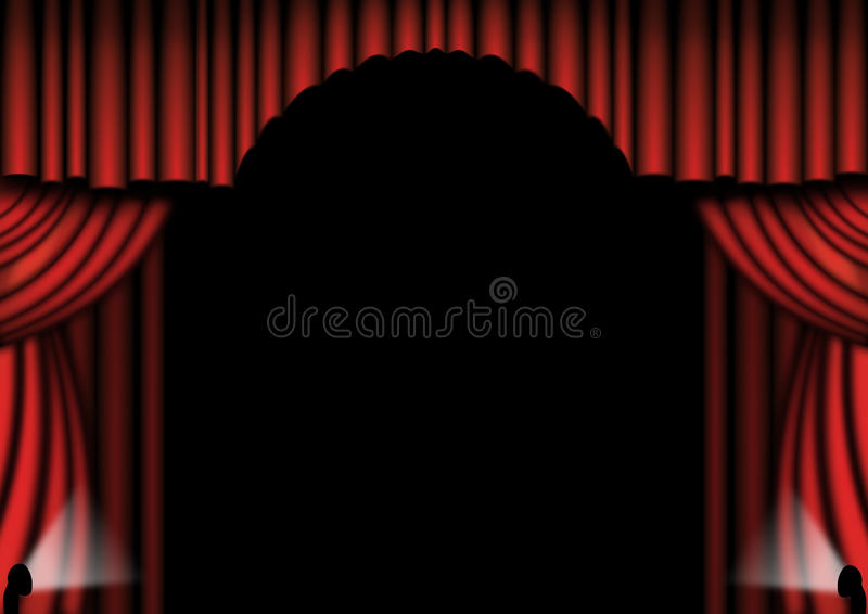 Download Red Theater Drapes stock illustration. Image of hanging - 12861982