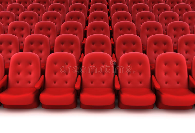 Red theater seats royalty free illustration