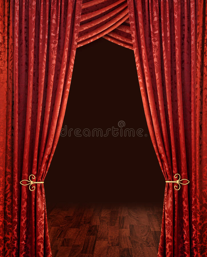 Download Red theatre curtains stock photo. Image of opera, opening - 10781920