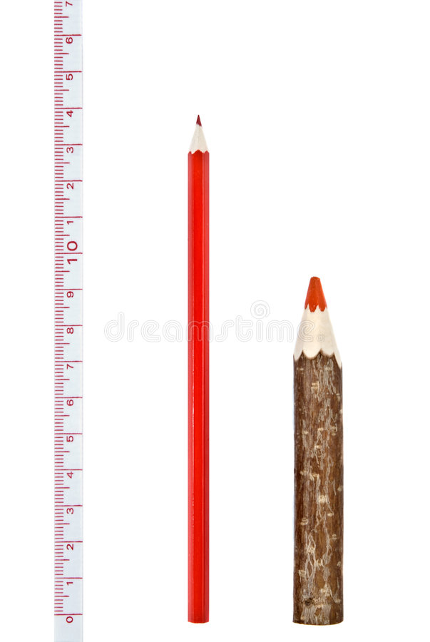 Download Red Thick And Thin Pencils With Ruler Stock Image - Image of objects, paint: 7880219