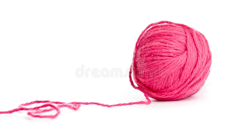 Download Red thread clew isolated stock photo. Image of material - 19215556