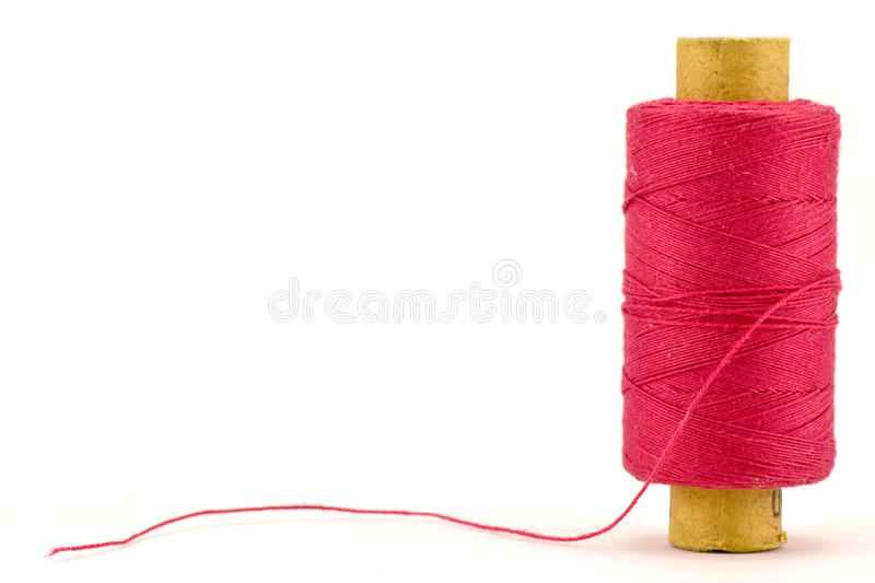 Red thread spool royalty free stock photos