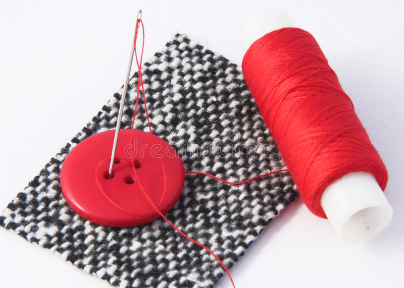 Red threads stock photos