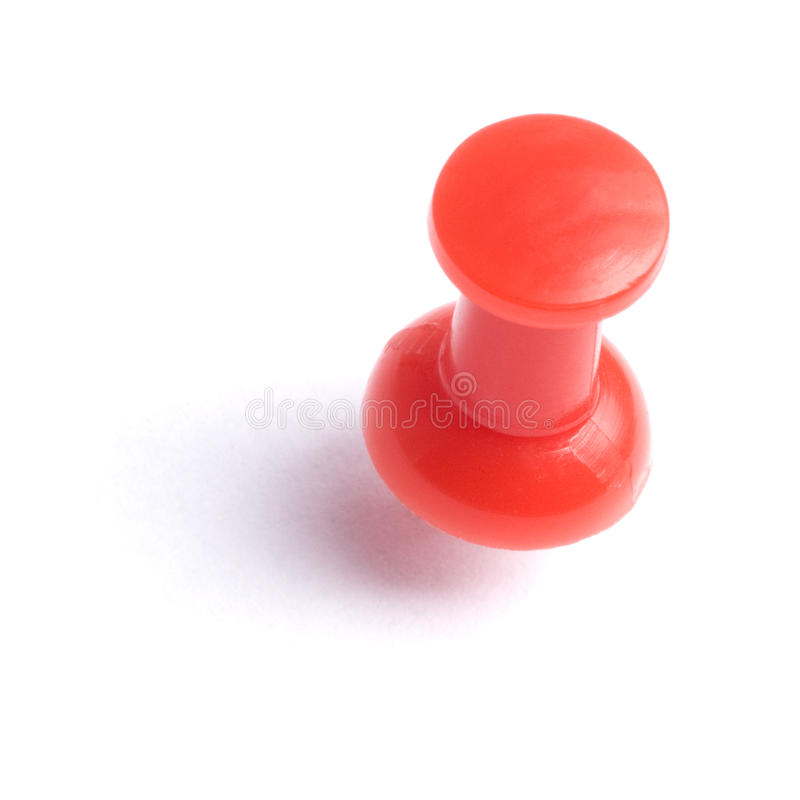 Red thumb tack royalty free stock images