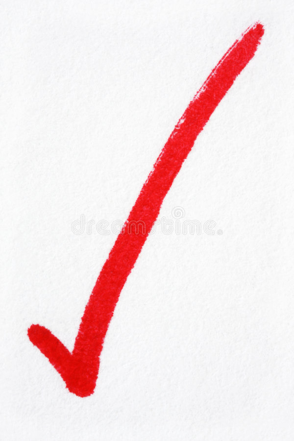 Download Red Tick stock image. Image of symbol, correct, paper - 5854451
