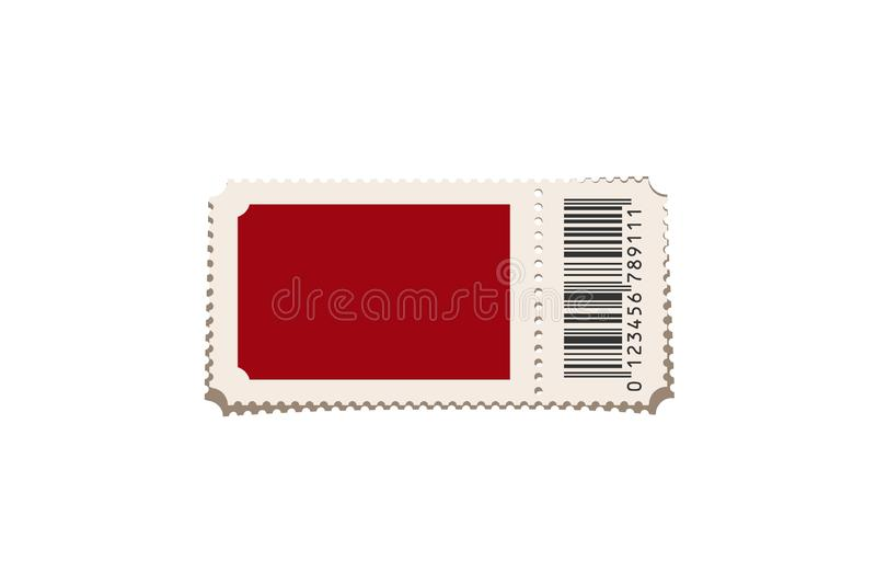 Red ticket template isolated on white background. Vector design element. vector illustration