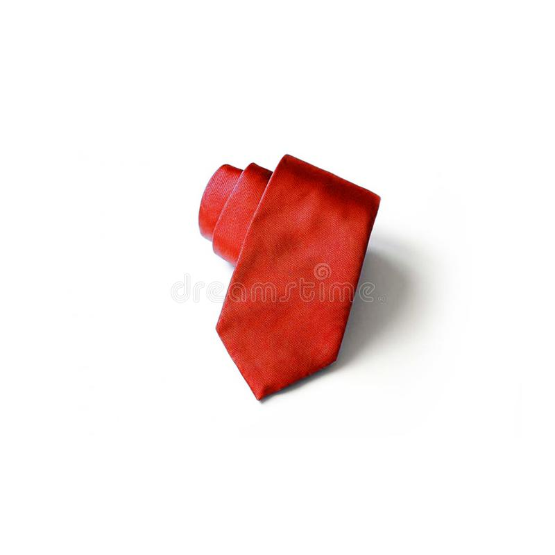 Red tie for men and businessman stock image