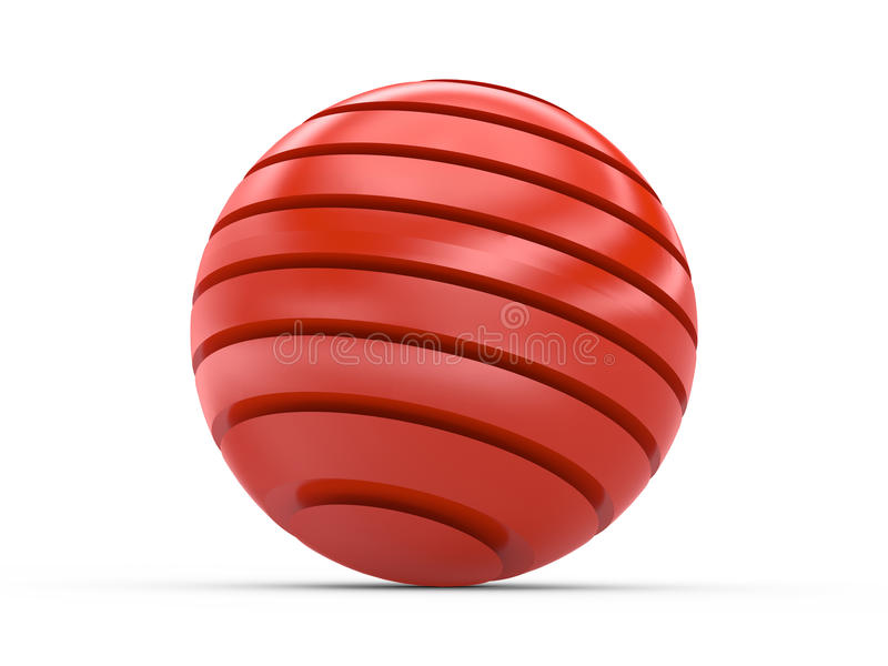 Red tiered sphere royalty free illustration