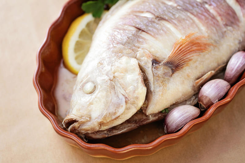 Red tilapia. Ready to be cooked - food and drink stock photos