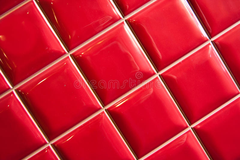Red Tile. A Red Tile close-up Background royalty free stock photography