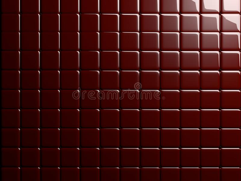 Red Tile 3D Rendered Background / Wallpaper / Texture stock illustration
