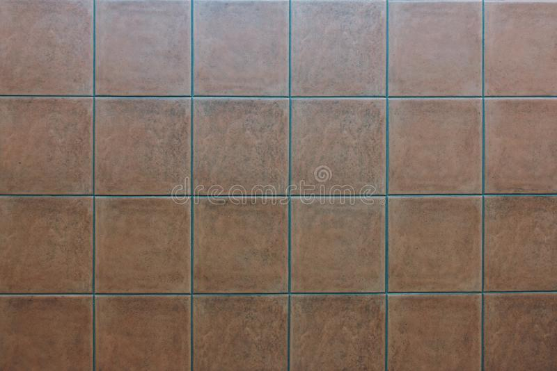 Red Tile flooring, seamless texture material background.  stock photo