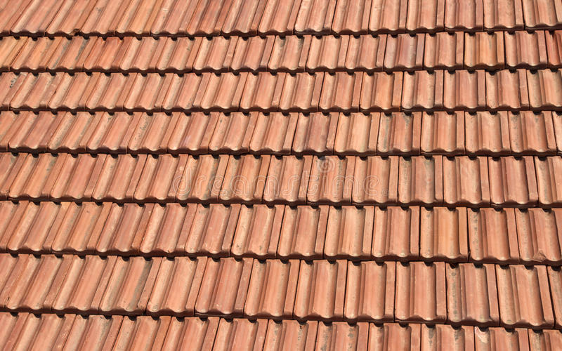 Red tile roof. Old red tile roof (pattern texture royalty free stock images