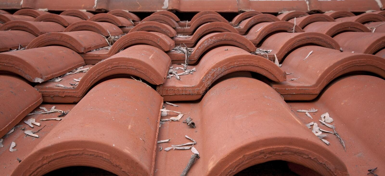 Red tile roof. Of old house stock images