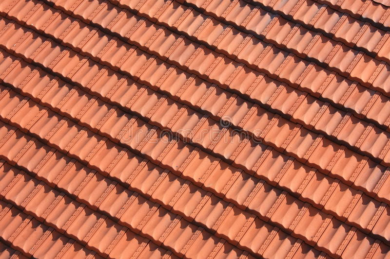 Red tile roof pattern