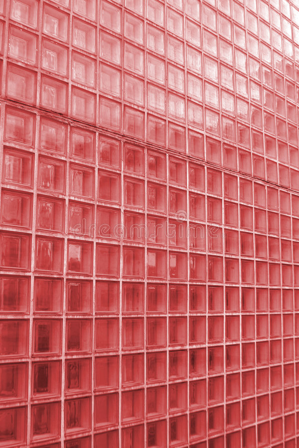 Red Tile Texture. Red see through bathroom tile tinted red stock photo