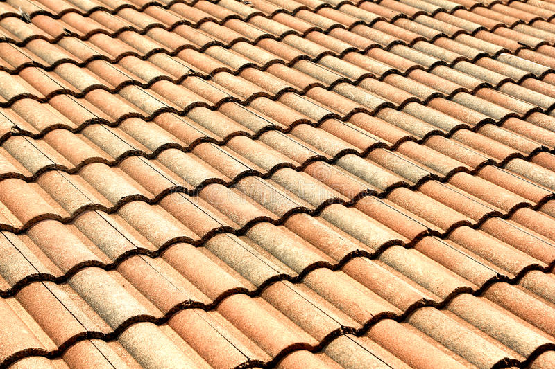 Red Tiles Roof Background Royalty Free Stock Images