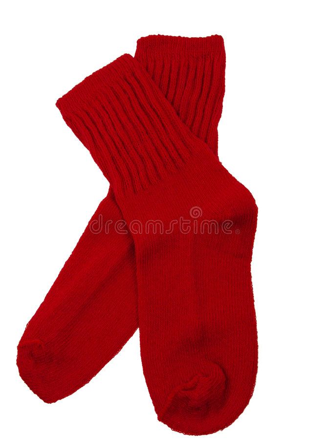 Red Toddler Socks stock image