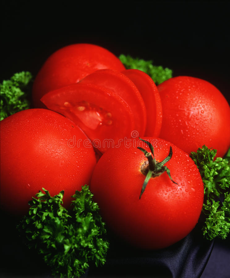 Download Red tomato stock image. Image of seductive, salad, drops - 13305171