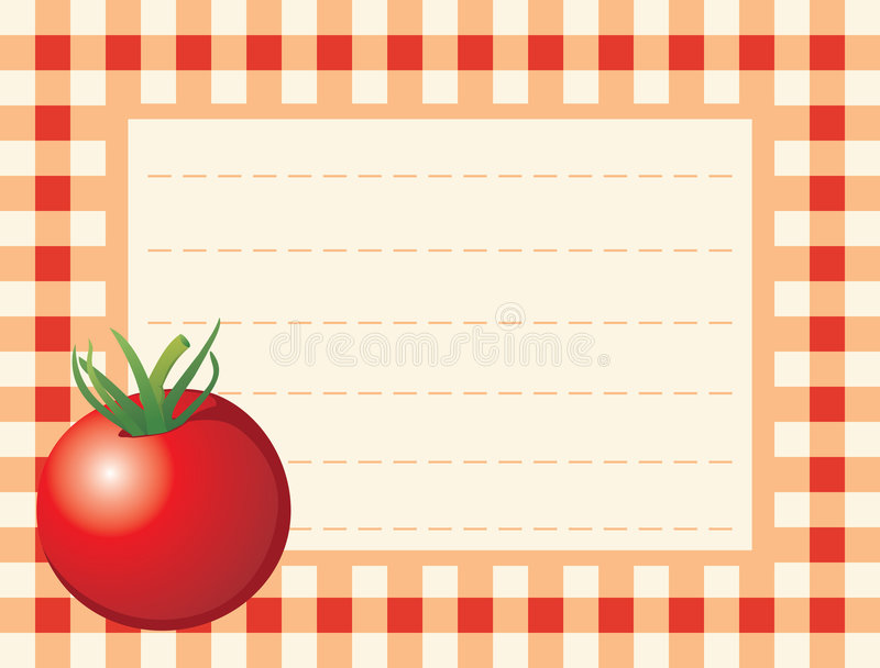 Download Red Tomato On Chequered Background Stock Illustration - Image: 5416999
