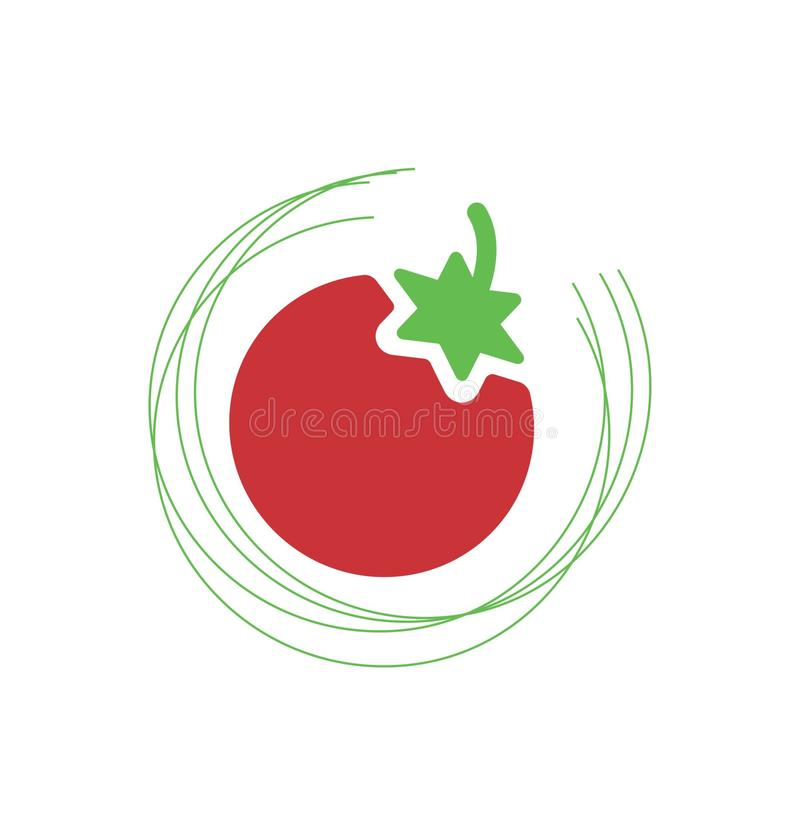 Red tomato or cherry icon. Simple red tomato or cherry icon vector illustration