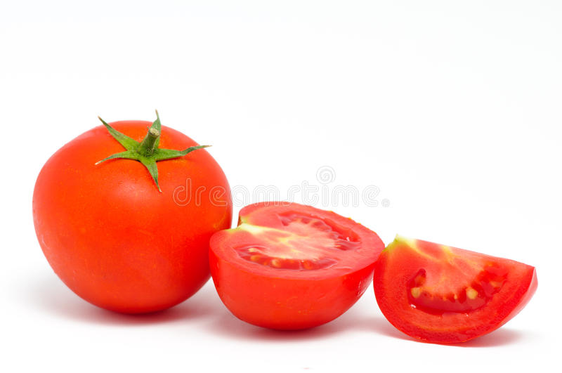 Red tomato with cut