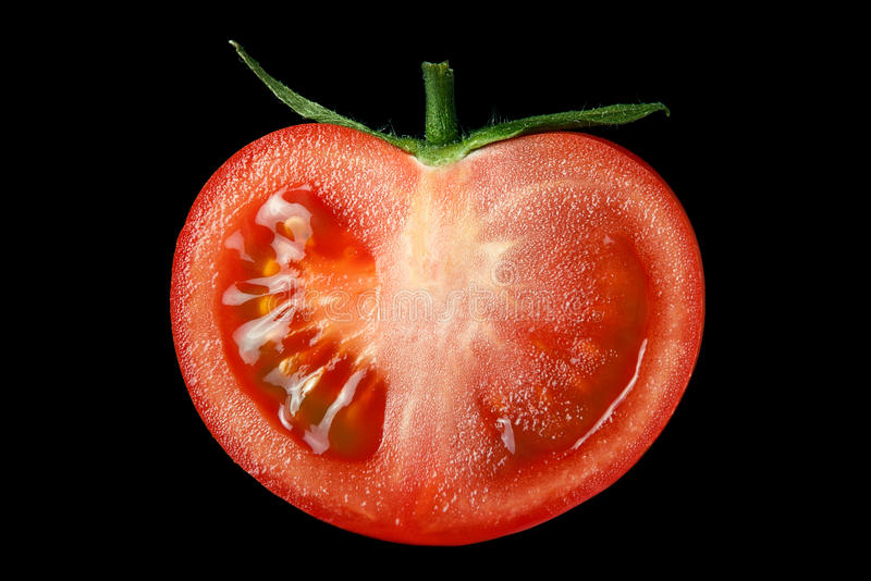 Download The Red Tomato Cut Half-and-half. Stock Image - Image of real, natural: 20045683